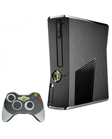 MTS#3 TEXTURED GUN METAL XBOX 360 SLIM GAME CONSOLE SKIN
