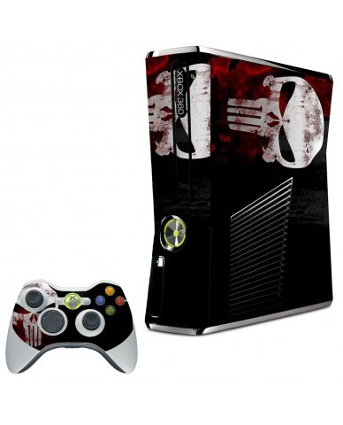 PUNISHER SKULL XBOX 360 SLIM GAME CONSOLE SKIN