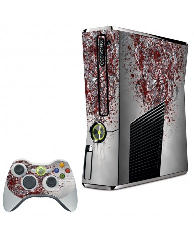 TRIBAL GRUNGE XBOX 360 SLIM GAME CONSOLE SKIN