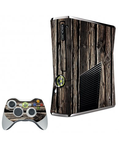 WOOD XBOX 360 SLIM GAME CONSOLE SKIN