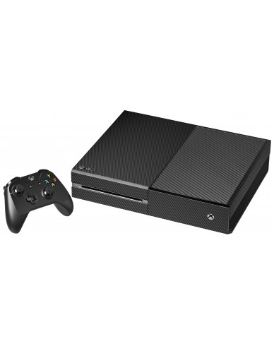 BLACK TEXTURED CARBON FIBER XBOX ONE GAME CONSOLE SKIN