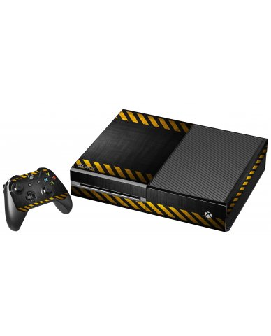 BLACK CAUTION BORDER XBOX ONE GAME CONSOLE SKIN