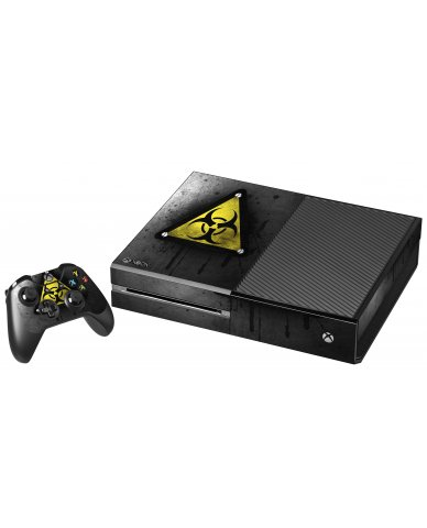 BLACK CAUTION XBOX ONE GAME CONSOLE SKIN
