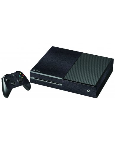 BLACK LEATHER XBOX ONE GAME CONSOLE SKIN