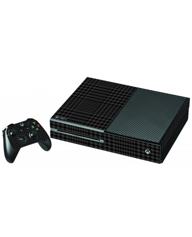 BLACK PLAID XBOX ONE GAME CONSOLE SKIN