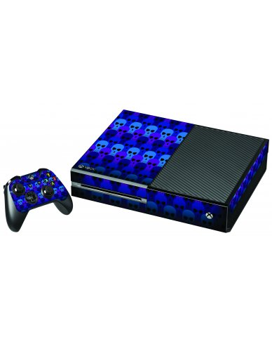 BLUE SKULLS XBOX ONE GAME CONSOLE SKIN
