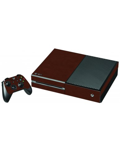 BROWN LEATHER XBOX ONE GAME CONSOLE SKIN
