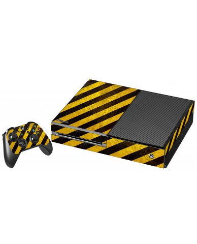 CAUTION STRIPES XBOX ONE GAME CONSOLE SKIN