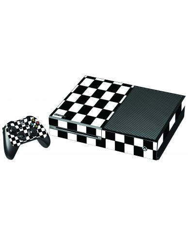 CHECKERED XBOX ONE GAME CONSOLE SKIN