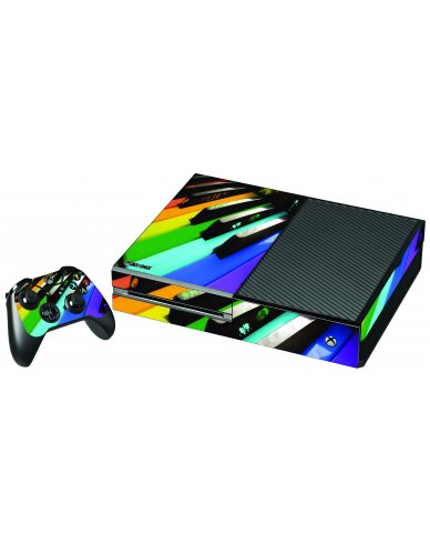 COLORFUL PIANO XBOX ONE GAME CONSOLE SKIN
