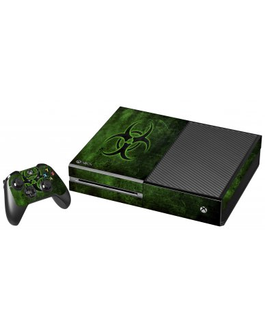 GREEN BIOHAZARD XBOX ONE GAME CONSOLE SKIN