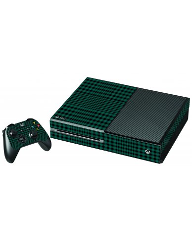 GREEN PLAID XBOX ONE GAME CONSOLE SKIN