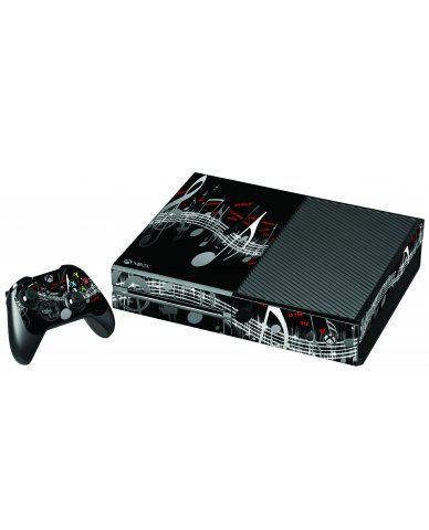 MUSIC NOTES XBOX ONE GAME CONSOLE SKIN