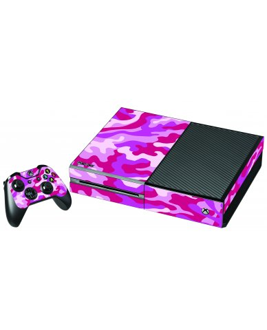 PINK CAMO XBOX ONE GAME CONSOLE SKIN