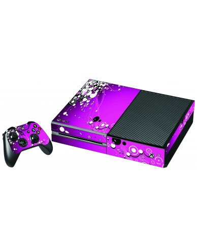 PINK FLOWERS XBOX ONE GAME CONSOLE SKIN