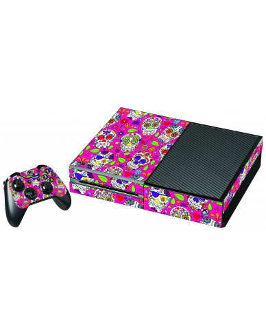 PINK SUGAR SKULLS XBOX ONE GAME CONSOLE SKIN