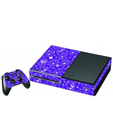PURPLE SUGAR SKULLS XBOX ONE GAME CONSOLE SKIN