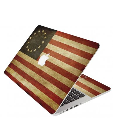 Colonial American Flag Apple Macbook Pro 13 Retina A1502 Laptop Skin