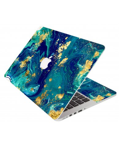 Blue And Gold Marble Apple Macbook 12 Retina A1534