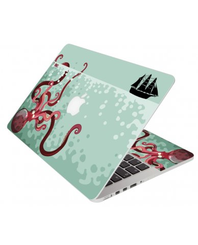 Kraken In The Ocean Apple Macbook Pro 13 Retina A1502 Laptop Skin