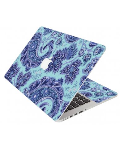 Blue Teal Paisley Apple Macbook Pro 13 Retina A1502 Laptop Skin
