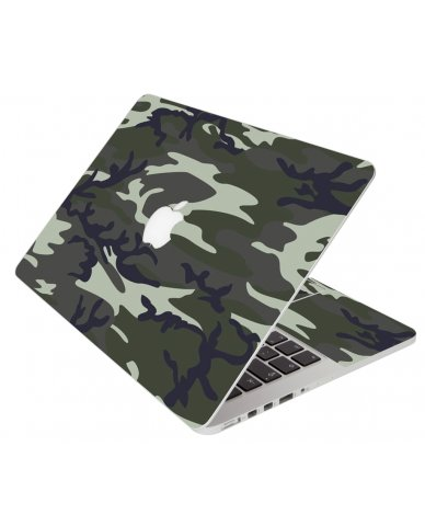 Army Camouflage Apple Macbook Pro 13 Retina A1502 Laptop Skin