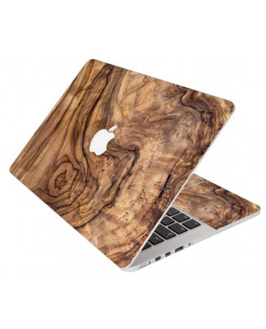Olive Wood Grain Apple Macbook Pro 13 Retina A1502 Laptop Skin