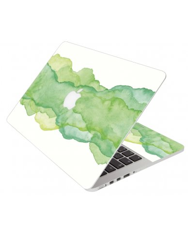 Green Watercolor Apple Macbook Pro 13 Retina A1502 Laptop Skin