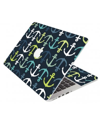 Blue And Green Anchors Apple Macbook Pro 13 Retina A1502 Laptop Skin