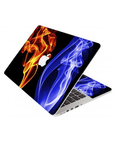 Fire And Smoke Apple Macbook Pro 13 Retina A1502 Laptop Skin