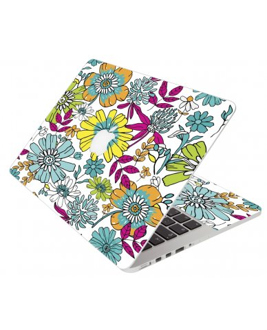 Hand Drawn Flowers Apple Macbook Pro 13 Retina A1502 Laptop Skin