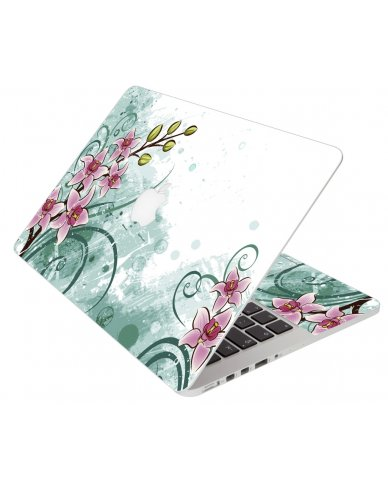 Pink Lilly Water Color Apple Macbook 12 Retina A1534