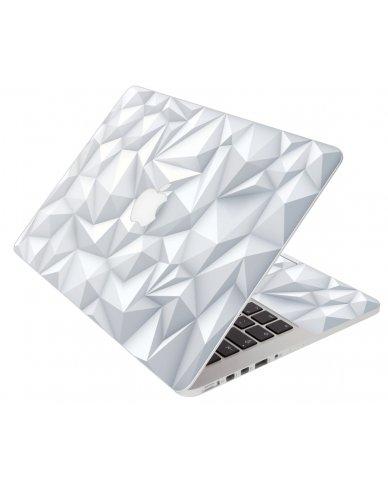 3D White Polygons Apple Macbook Pro 13 Retina A1502 Laptop Skin