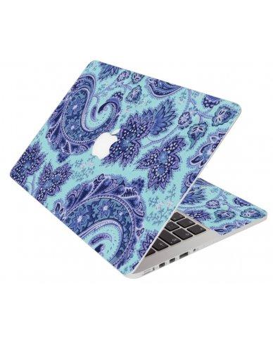 Blue Teal Paisley Apple Macbook 12 Retina A1534