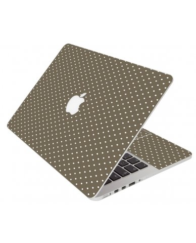 Brown Polka Dot Apple Macbook 12 Retina A1534