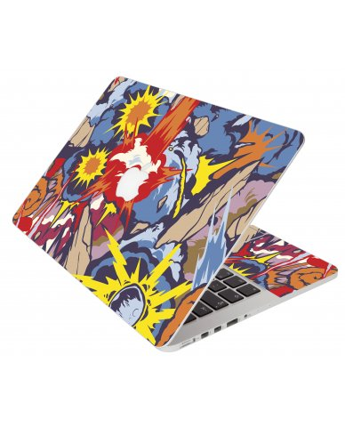 Comic Book Explosions in the Sky Apple MacBook Pro 12 Retina A1534 Laptop Skin