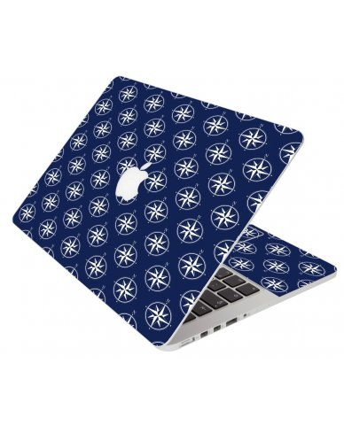Nautical Compass Navy Blue Apple Macbook 12 Retina A1534
