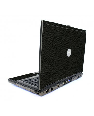 Black Leather Dell D620 Laptop Skin
