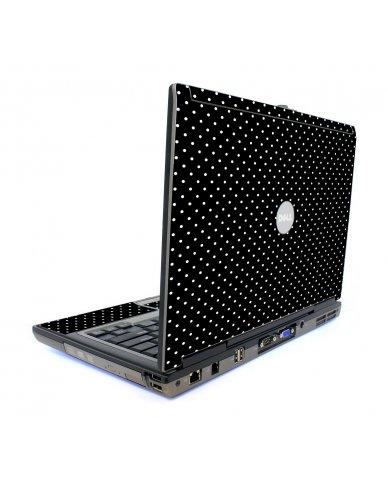 Black Polka Dots Dell D620 Laptop Skins