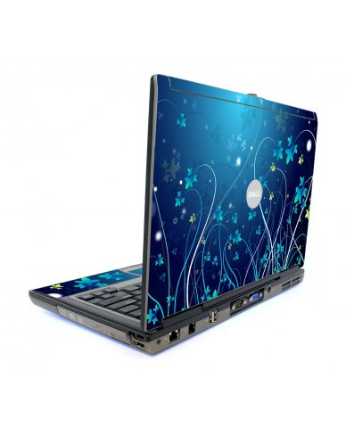 Blue Flowers Dell D620 Laptop Skin