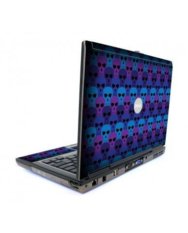 Blue Skulls Dell D620 Laptop Skin