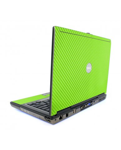 Green Carbon Fiber Dell D620 Laptop Skin