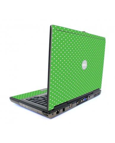 Kelly Green Polka Dell D620 Laptop Skin