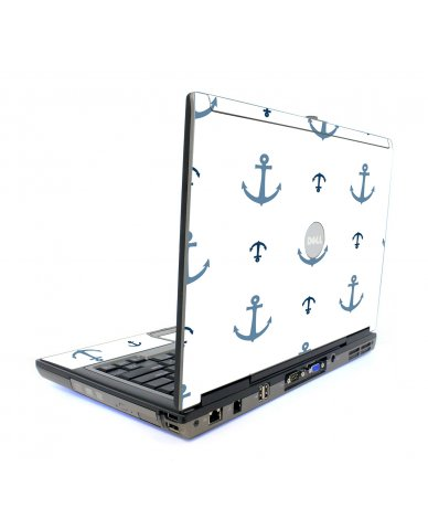 Multi Blue Anchors Dell D620 Laptop Skin