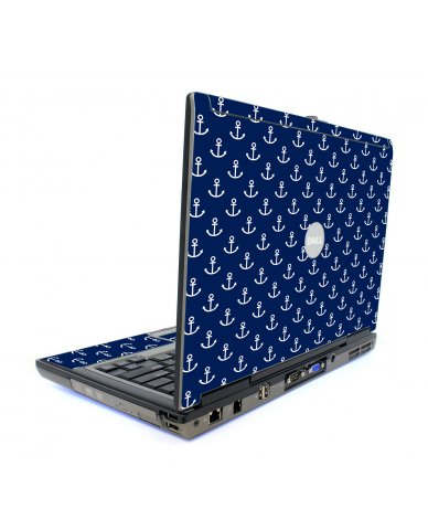 Navy White Anchors Dell D820 Laptop Skin
