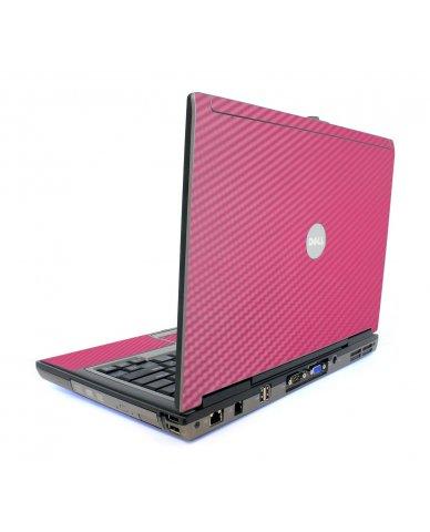 Pink Carbon Fiber Dell D620 Laptop Skin