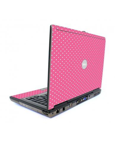 Pink Polka Dot Dell D620 Laptop Skin