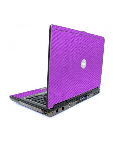 Purple Carbon Fiber Dell D620 Laptop Skin