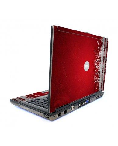 Red Grunge Dell D620 Laptop Skin