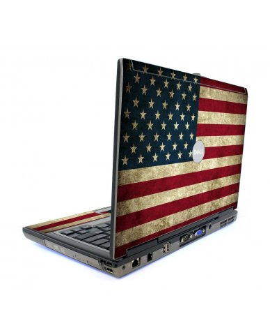 American Flag Dell D820 Laptop Skin